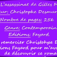L'assassinat de Gilles Marzotti de Christophe Desmurger