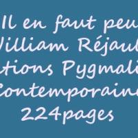 Il en faut peu de William Réjault